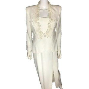 Ivory Wedding Dress 2 Piece Beads Sequins